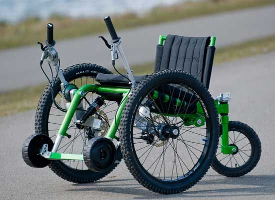 New Off Road Wheelchair The Mountain Trike Bike Offroad