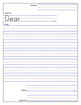 Friendly Letter Templates With Examples And Rubric Checklist 3rd