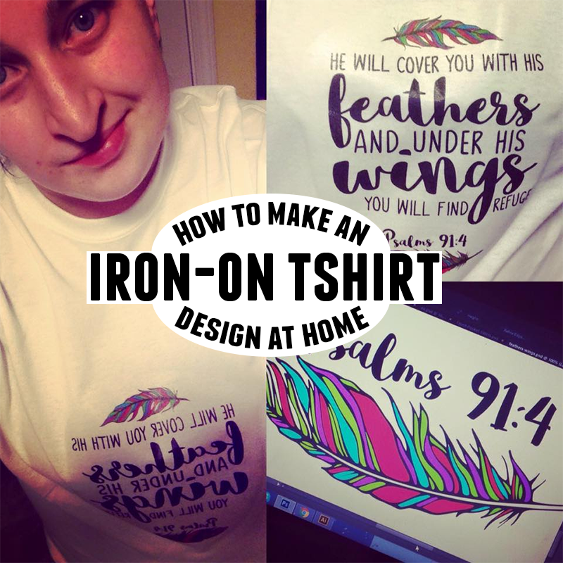Here S A Simple How To Tutorial Making Your Own Tshirt Designs And Save Money Make An Iron On T Shirt Design At Home