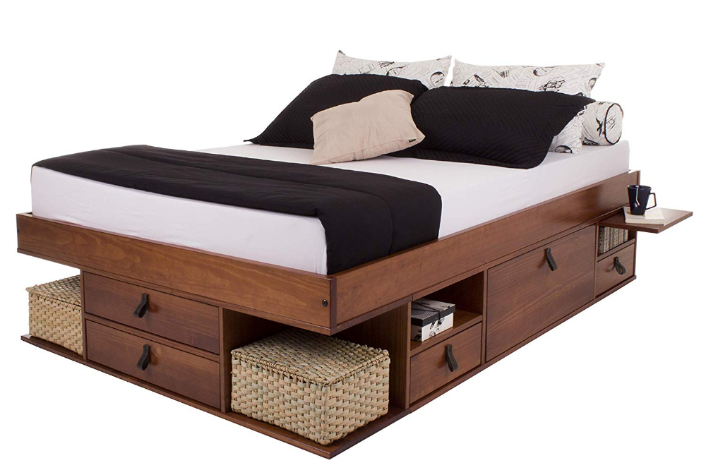 Memomad Functional Bed Bali Stable Bed With Lots Of Storage And