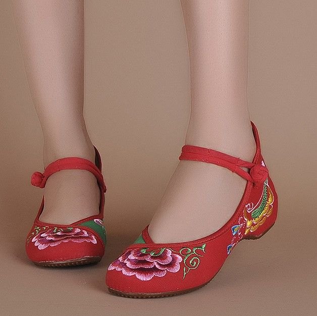 Mix Colors Fashion Women's Mary Jane Flat Heel Flats With Embroidery Soft  Sole Casual Dancing Shoes