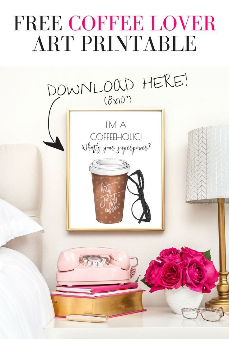 Download this gorgeous free coffee lover x