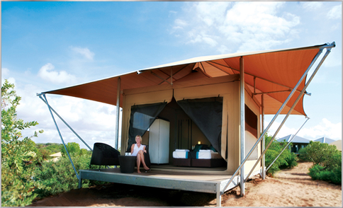 Eco tents permanent tents safari tents eco for Permanent tent cabins