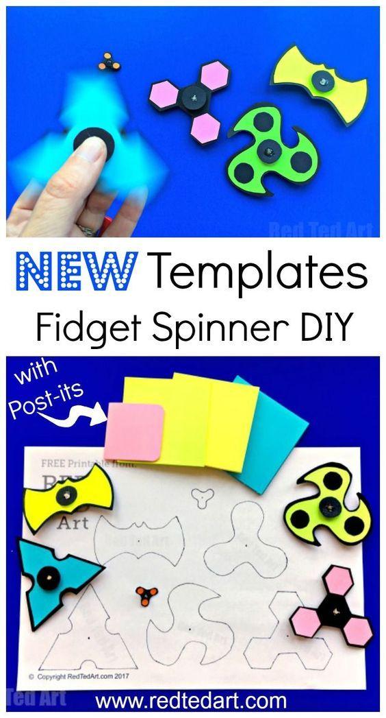 diy printable fidget spinner template without bearings pinterest