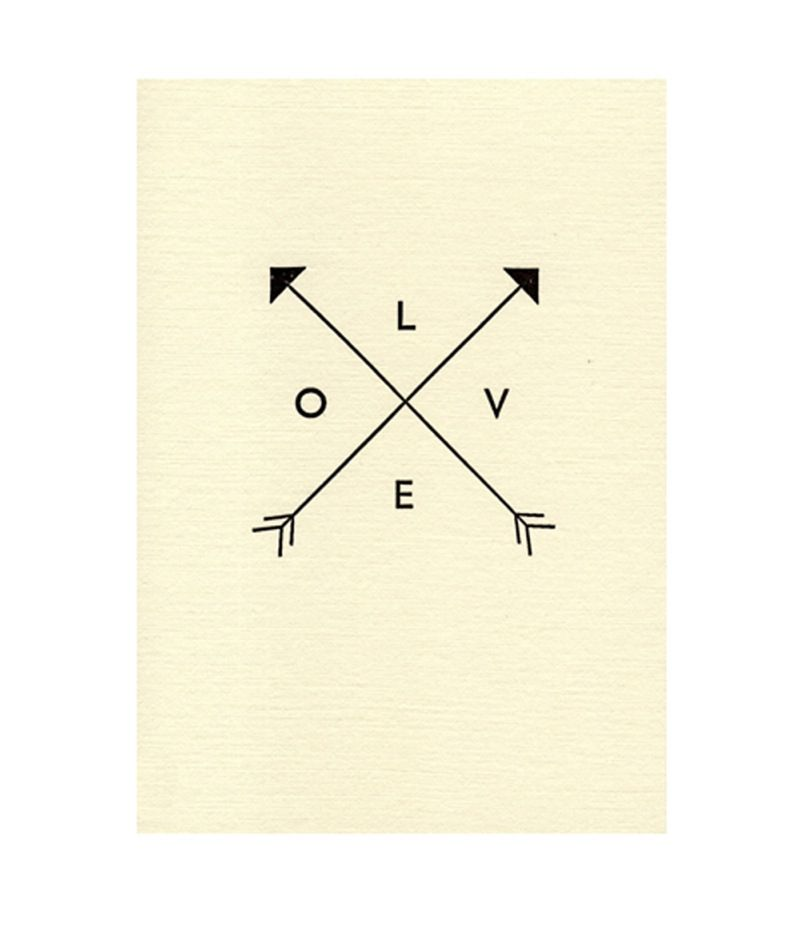 Everyday Love Arrow Cards Hand Printed Katie Leamon Telegram Paper Goods Triangle Tattoo Paper Goods Stationery