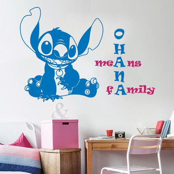 Wall Stitch Decal Baby Lilo And By DecalStoreVienna