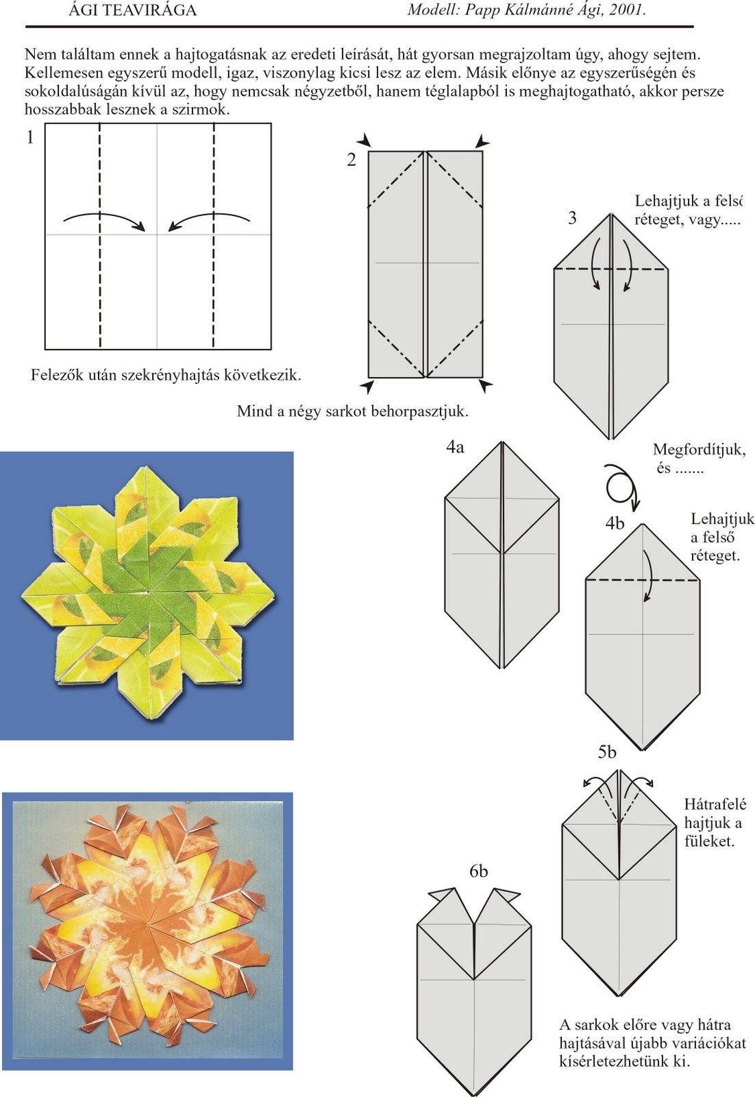Pin By Horvth Amarilllisz On Papr Hajtogatsvgs Pinterest Origami Flowers Diagrams Teas And Bag