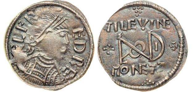 A penny of Alfred the Great, minted in London c.880.
