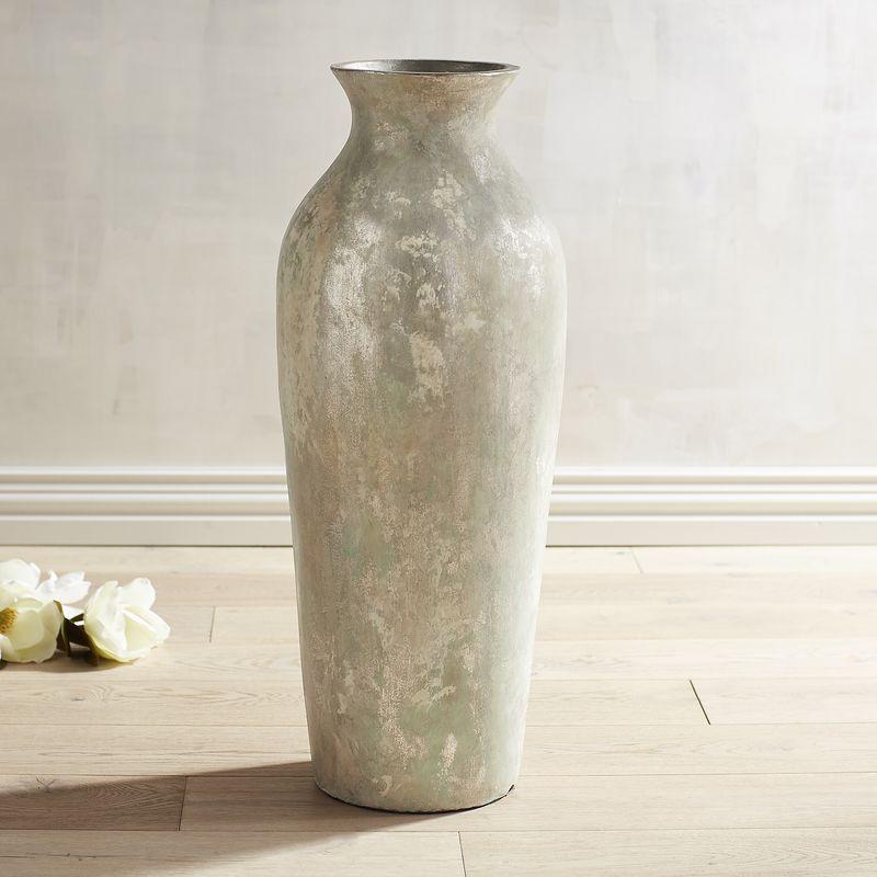 Patina Silver Urn Floor Vase Pier 1 Imports Floor Vase Floor Decor Vases Decor