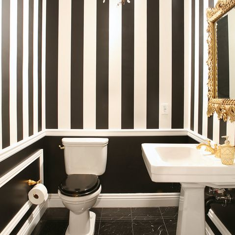 Black, white and gold accents