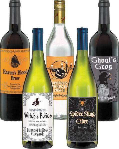 Halloween Bottle Labels - Halloween City