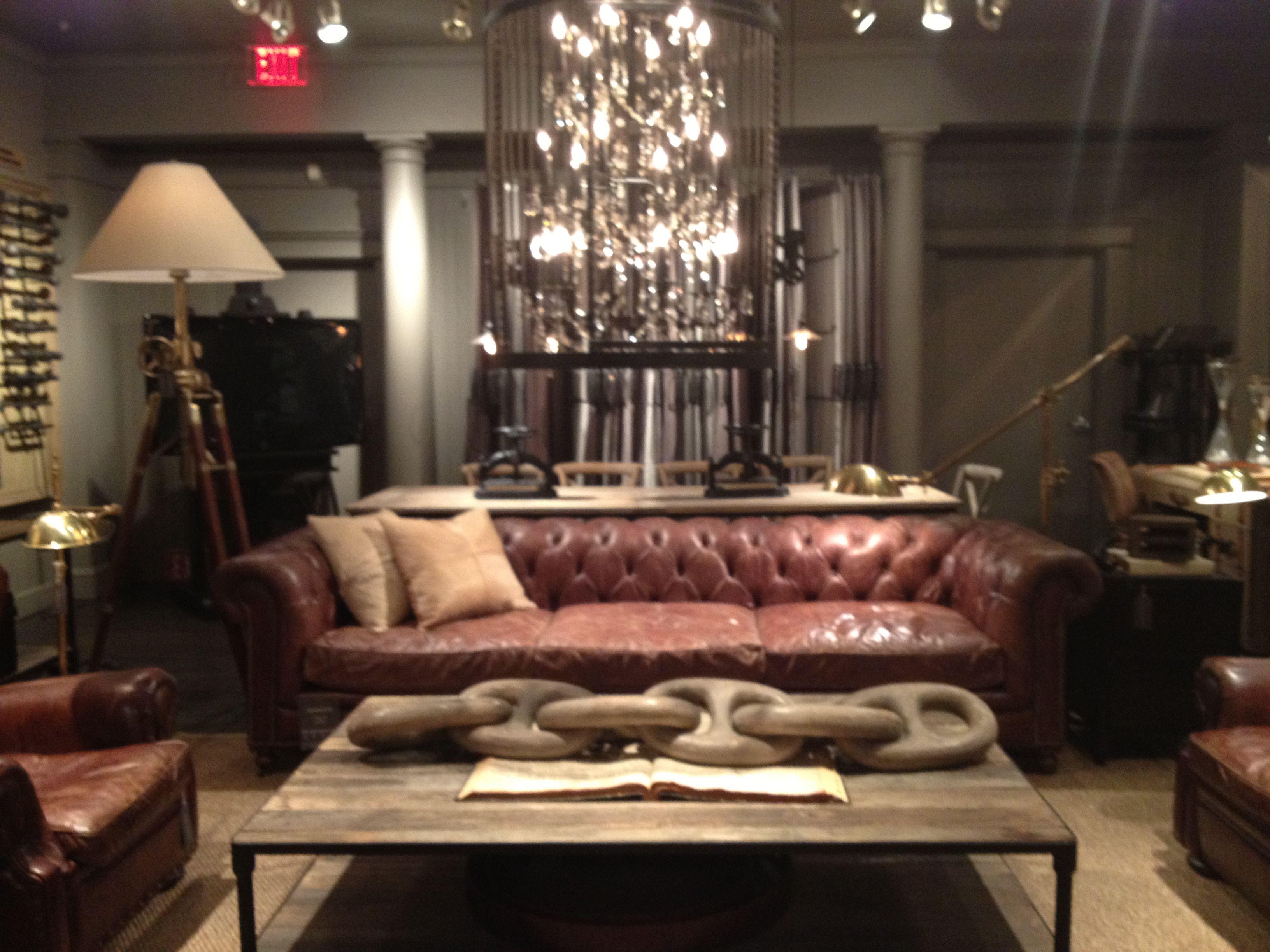 restoration hardware living room decor i love pinterest. Black Bedroom Furniture Sets. Home Design Ideas