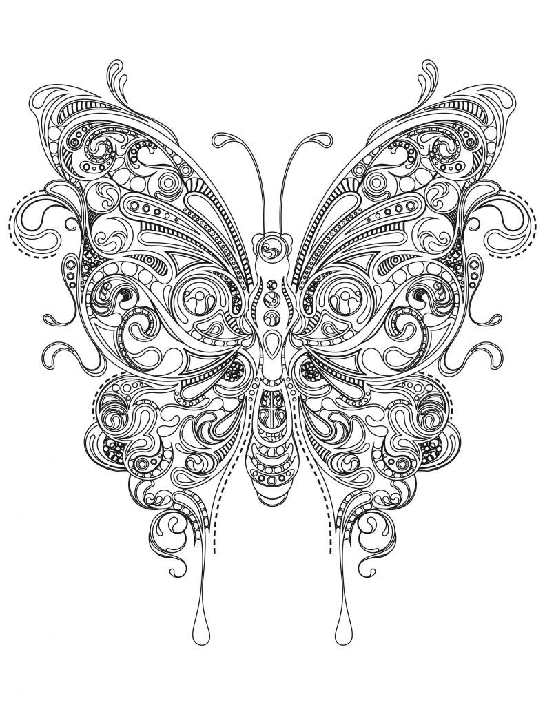 Butterfly Coloring Pages For Adults Dezyne Butterfly Coloring