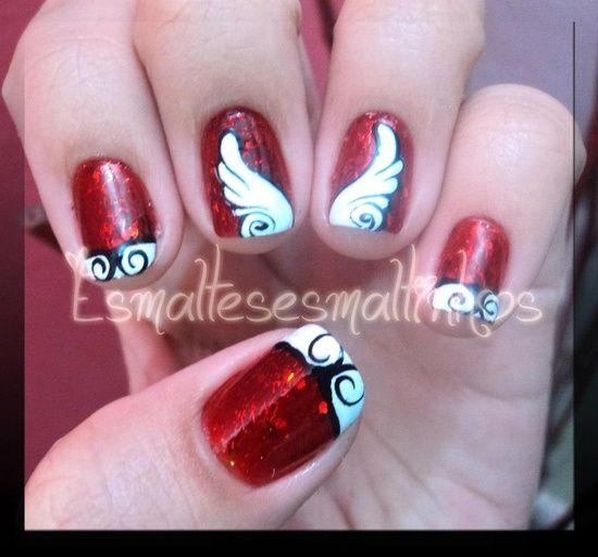I Luv These Angel Wings Nail Art Hacks Toe Nail Art Really Cute Nails