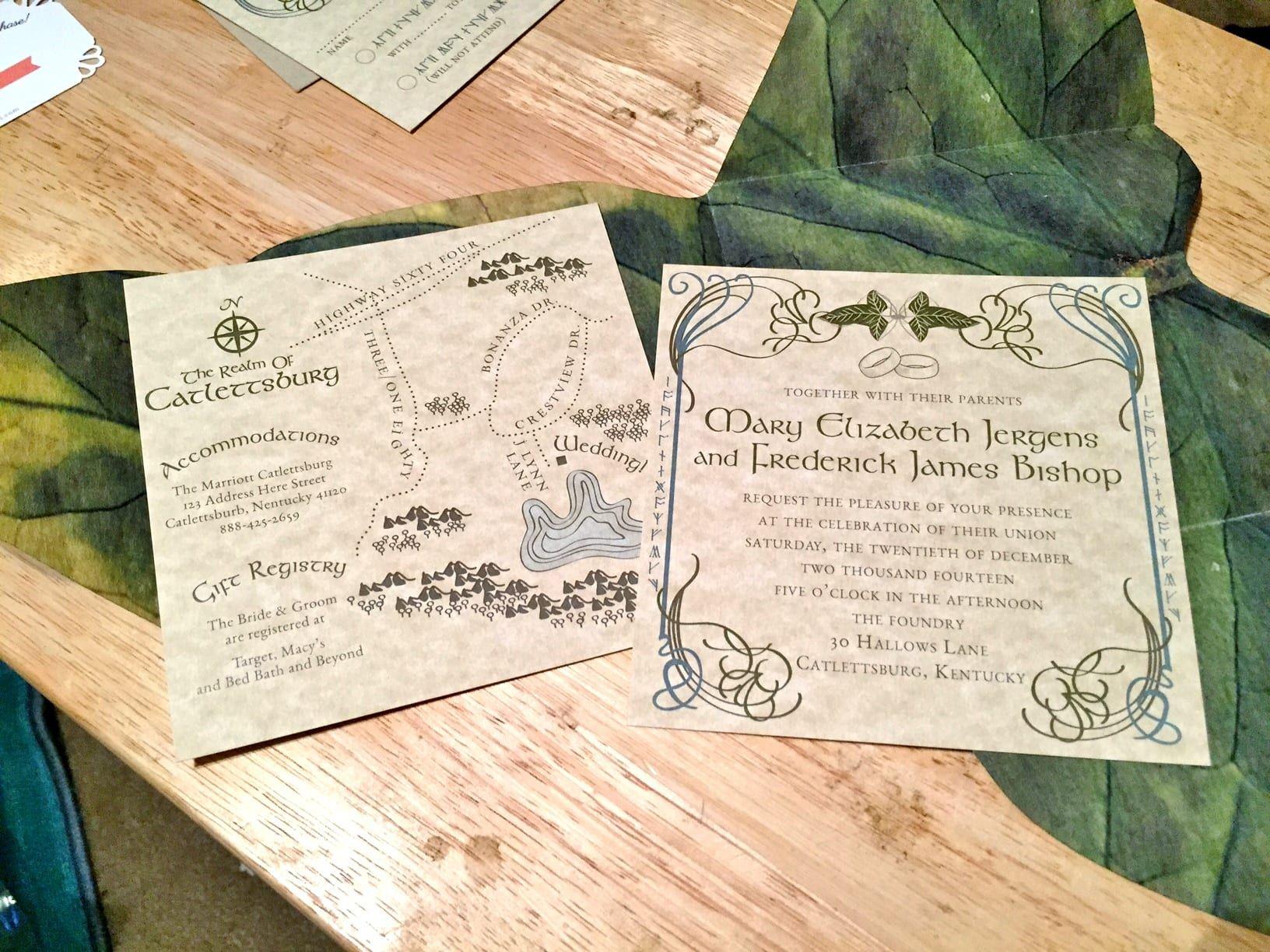 Izyaschnye Wedding Rings Wedding Invitation Lord Of The Rings