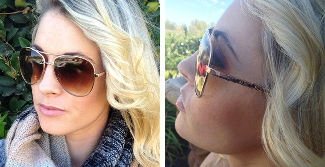 Designer Inspired Aviator Sunglasses | Jane
