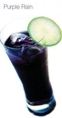 Purple Rain Cocktail Signature Drinks Yummy Drinks Cocktail Drinks