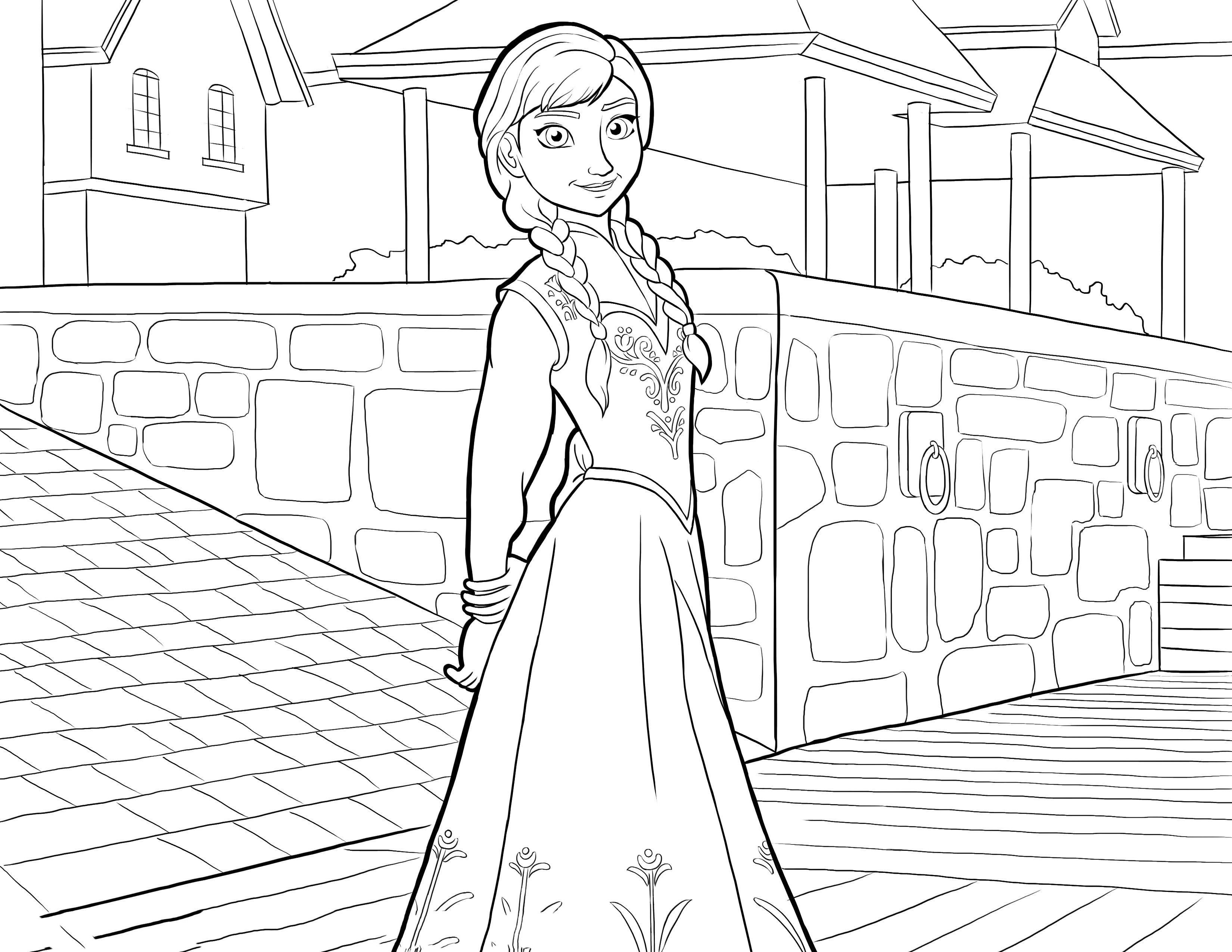 Frozen Coloring pages for kids. Printable. Online Coloring. 3 ...
