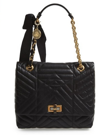 Lanvin 'Medium Happy' Quilted Leather Shoulder Bag via:null
