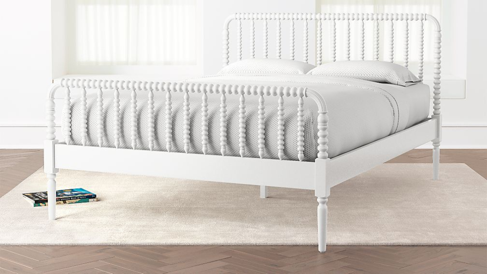 Jenny Lind Grey Queen Bed + Reviews Crate and Barrel in