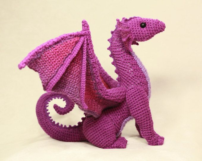 DIGITAL PDF Dragon Crochet Amigurumi Digital Pattern | Häkelsachen ...
