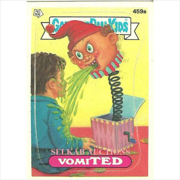 Garbage Pail Kids 459a Vomited Card 1987 Topps Chewing Gum On Ebid Canada 119580339 Garbage Pail Kids Kids Pail