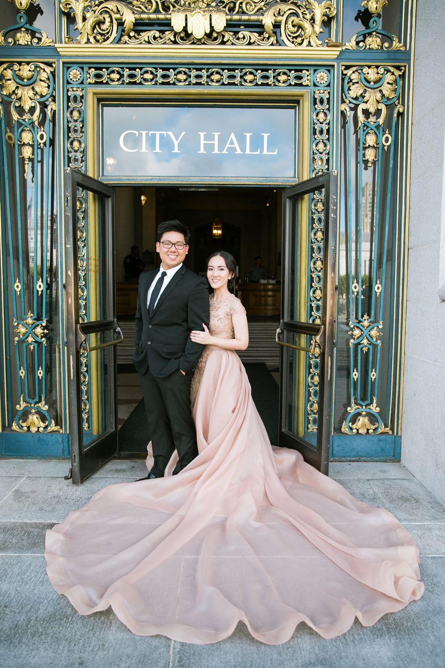 Michael and sarahs engagement at san francisco city hall