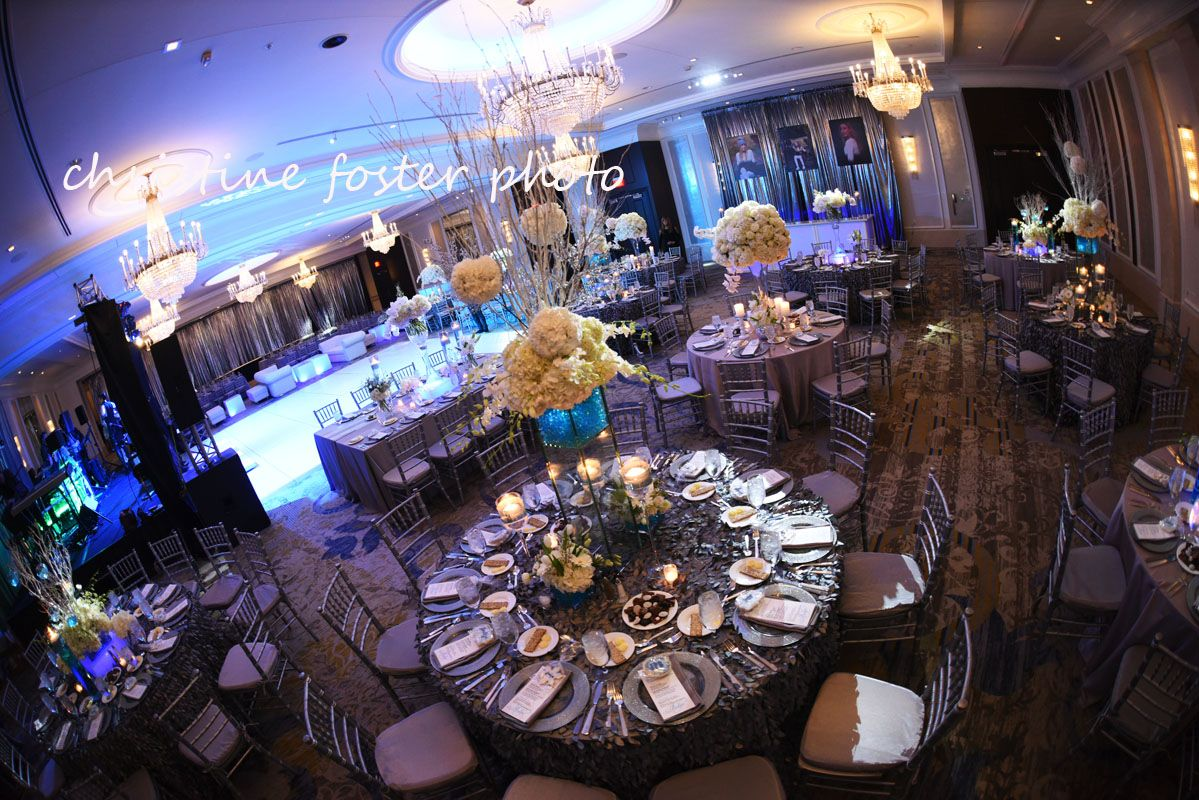 Winter theme silver white blue hiltoncityave phillymitzvah