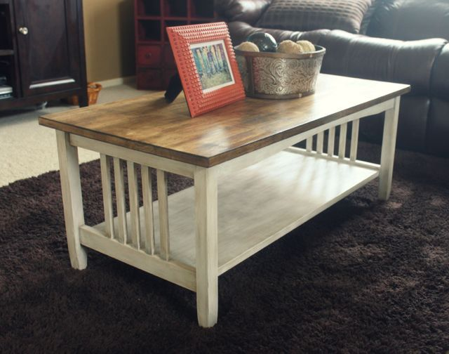 Coffee Table Redo This is our exact tables Good DIY Ideas