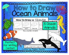 How to Draw Ocean Animals Writing Center and Directed