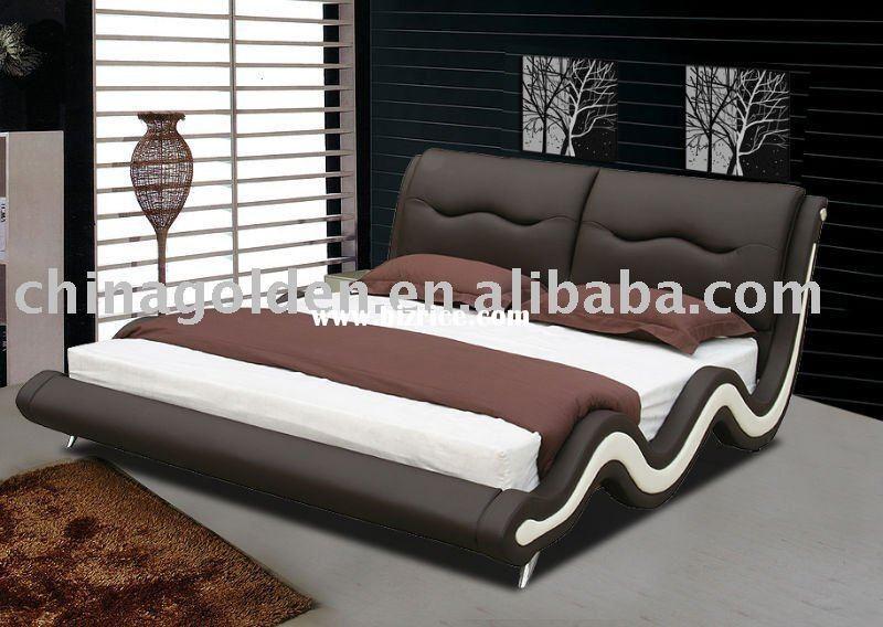 Golden furniture modern king size bed,modern king size leather bed ...