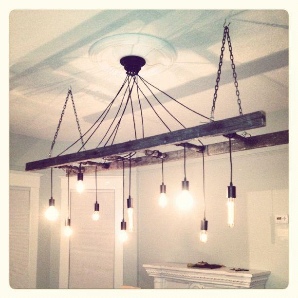 Nos encanta esta original lampara fabricada con cables casquillos y - lamparas para escaleras