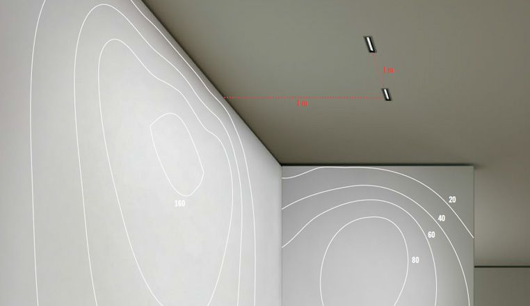 Spatiality. The even distribution of lighting  emphasises the wall as a single feature.