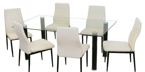 OfertÓn! conjunto mesa de comedor de cristal y 4 sillas solo 129 ...