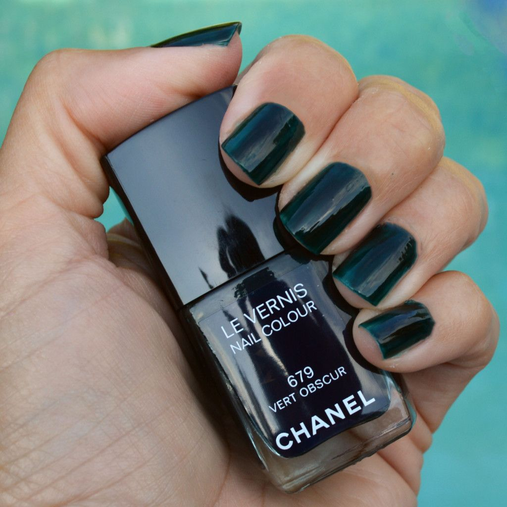 Chanel Vert Obscur fall 2015 nail polish review | Pinterest | Fall ...