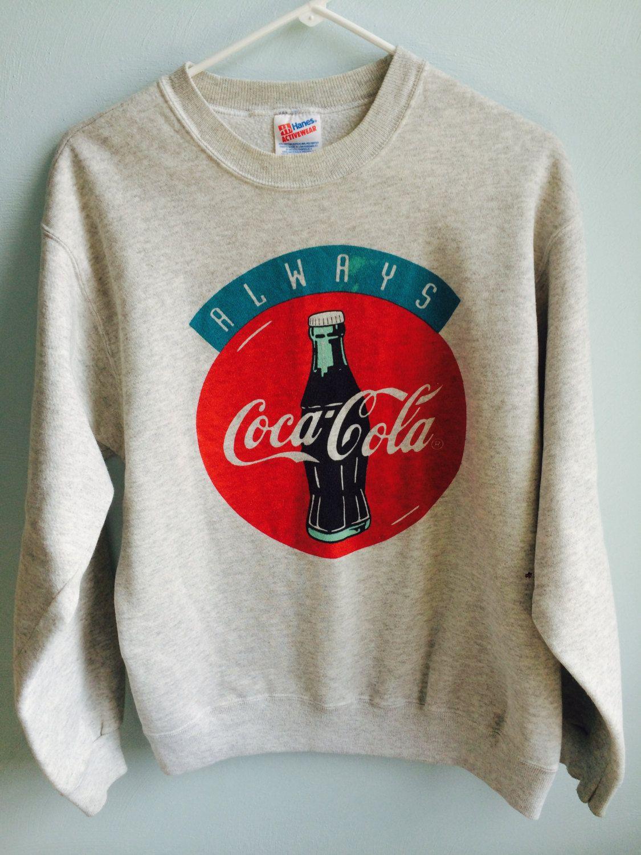 Vintage 90s Cocacola Sweatshirt Cocacola Crewneck Cocacola Etsy Sweatshirts Festival T Shirts Streetwear Aesthetic [ 3000 x 3000 Pixel ]