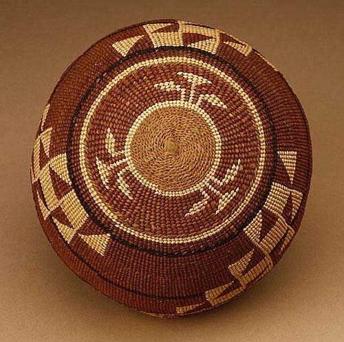 c235813ba70 A Native American North West Hupa Yurok woven cap   basket