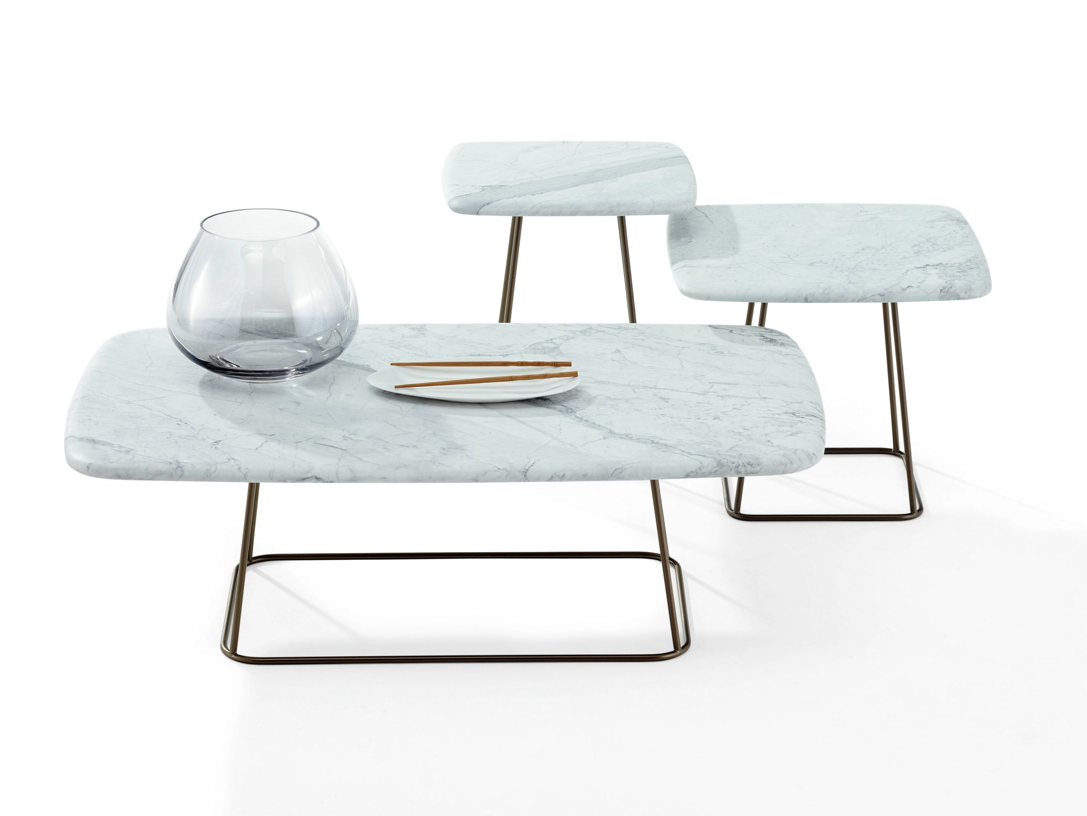 RECTANGULAR MARBLE COFFEE TABLE MANOLO BY DRAENERT