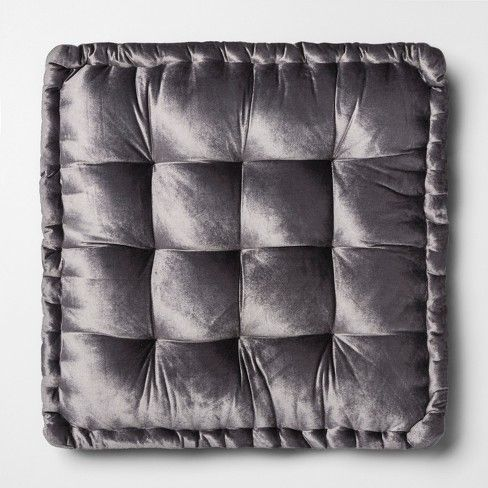 Velvet Oversize Square Floor Cushion Gray Opalhouse With Images Floor Cushions Square Throw Pillow Square Floor Pillows