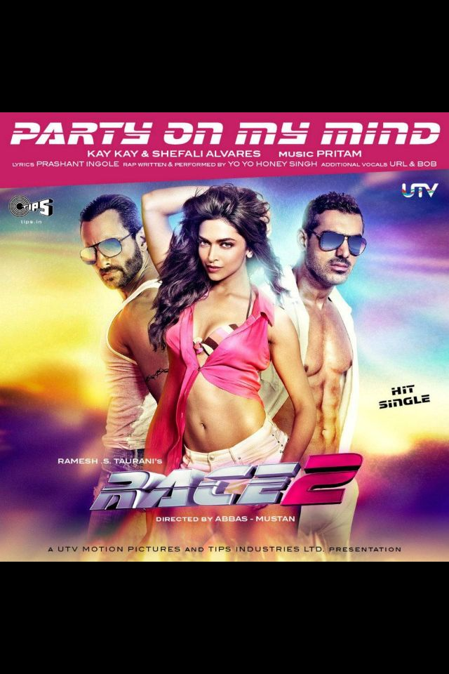 Party On My Mind From Race 2 Deepika Padukone Saif Ali Khan And John Abraham Hindi Movies Race 2 Hindi Movie Hindi Movie Song