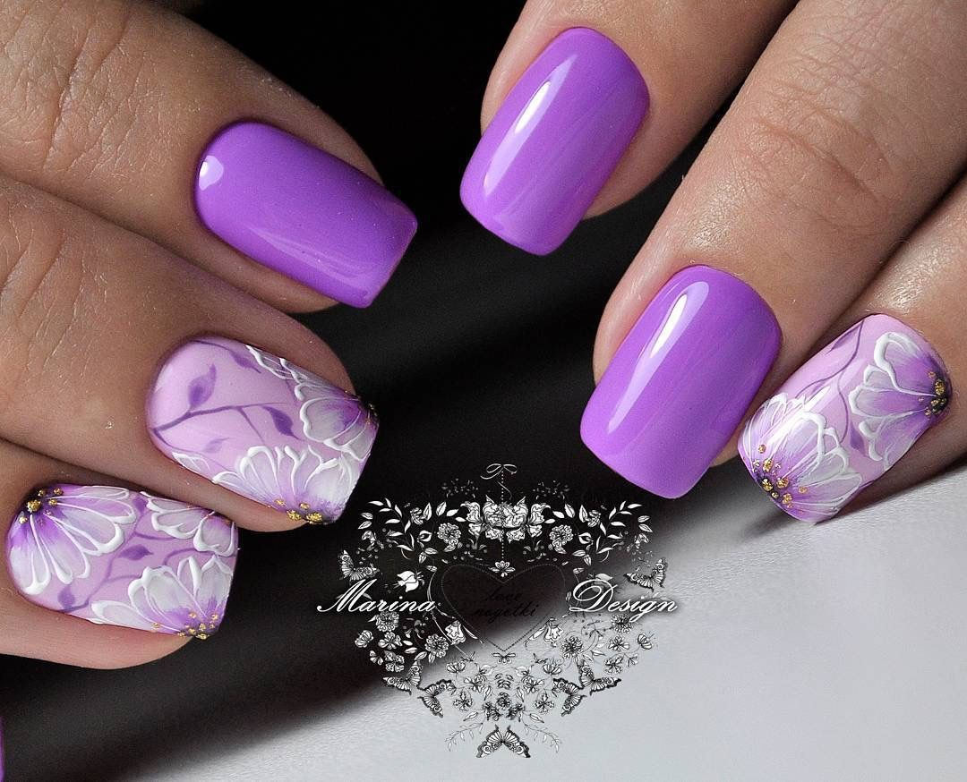 Pin by Nadinka Liahutska on Nails квіткові мотиви | Pinterest