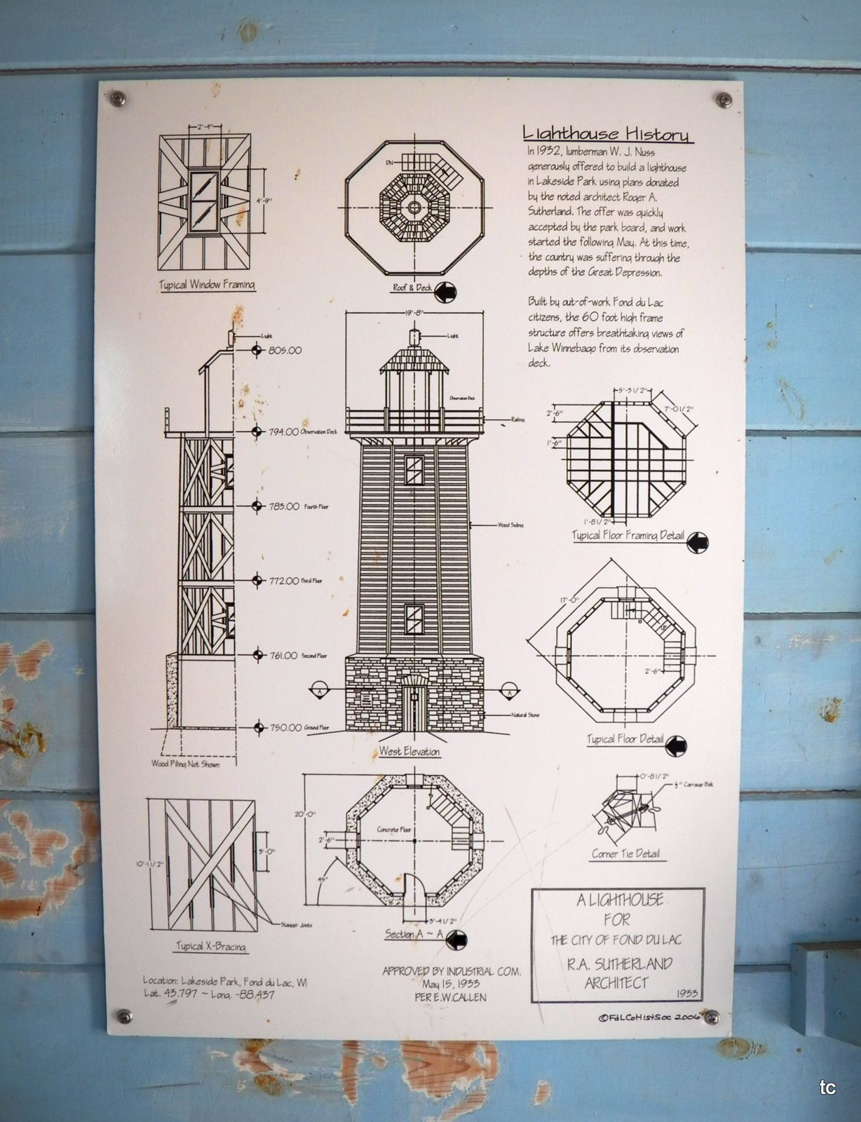 Lighthouse In Fond Du Lac Wi Lighthouse Drawing Lighthouse Blueprints