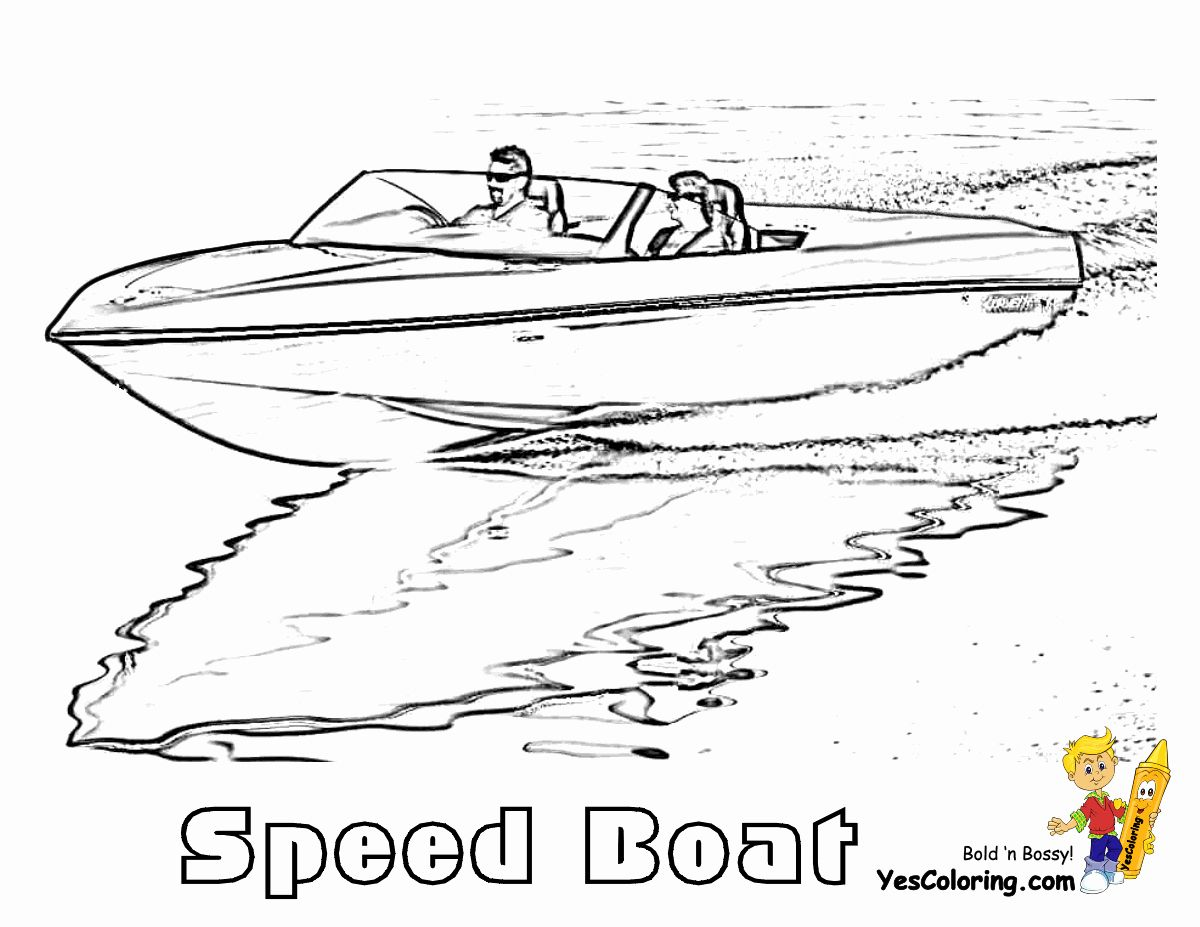 Speed Boat Coloring Page Best Of Rugged Boat Coloring Page Free In 2020 Speed Boats Coloring Pages Adult Coloring Pages