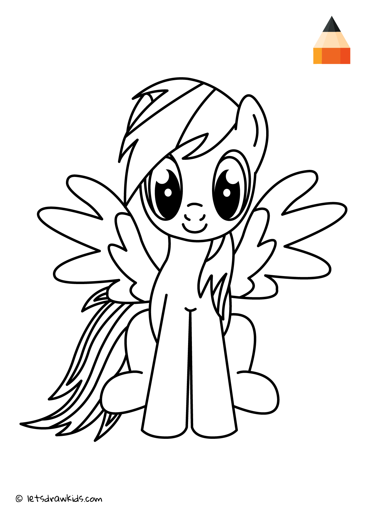 Coloring Page My Little Pony Rainbow Dash Rainbow Dash Drawings Coloring Pages