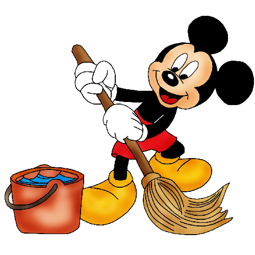 Mickey_Mouse Cleaning | Minnie y Mickey | Pinterest | Mickey mouse ...