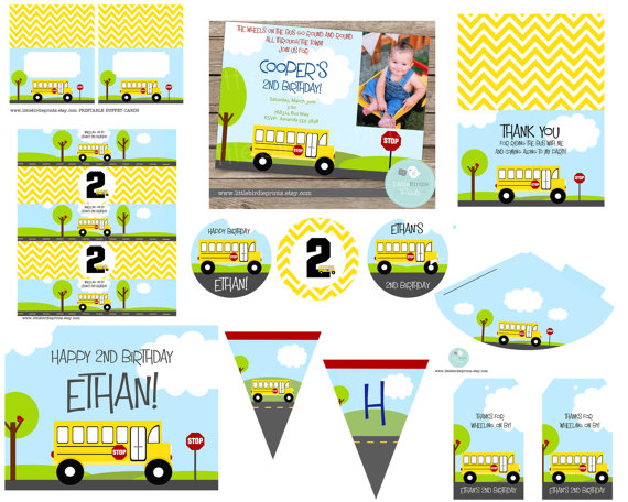 """birthday """"wheels on the bus party""""  buses birthdays and awesome, party invitations"""