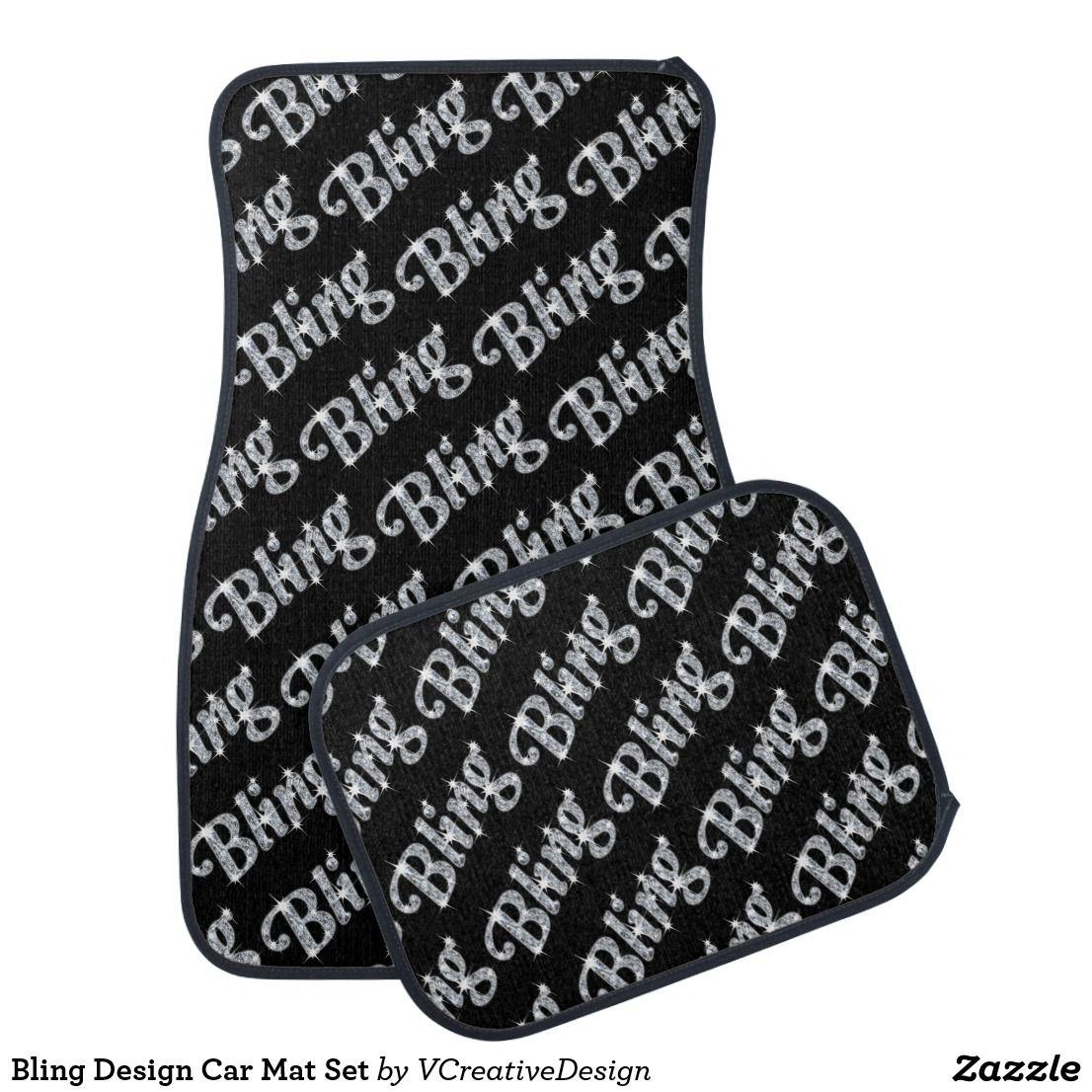 Bling Design Car Mat Set Zazzle.co.uk Bling design