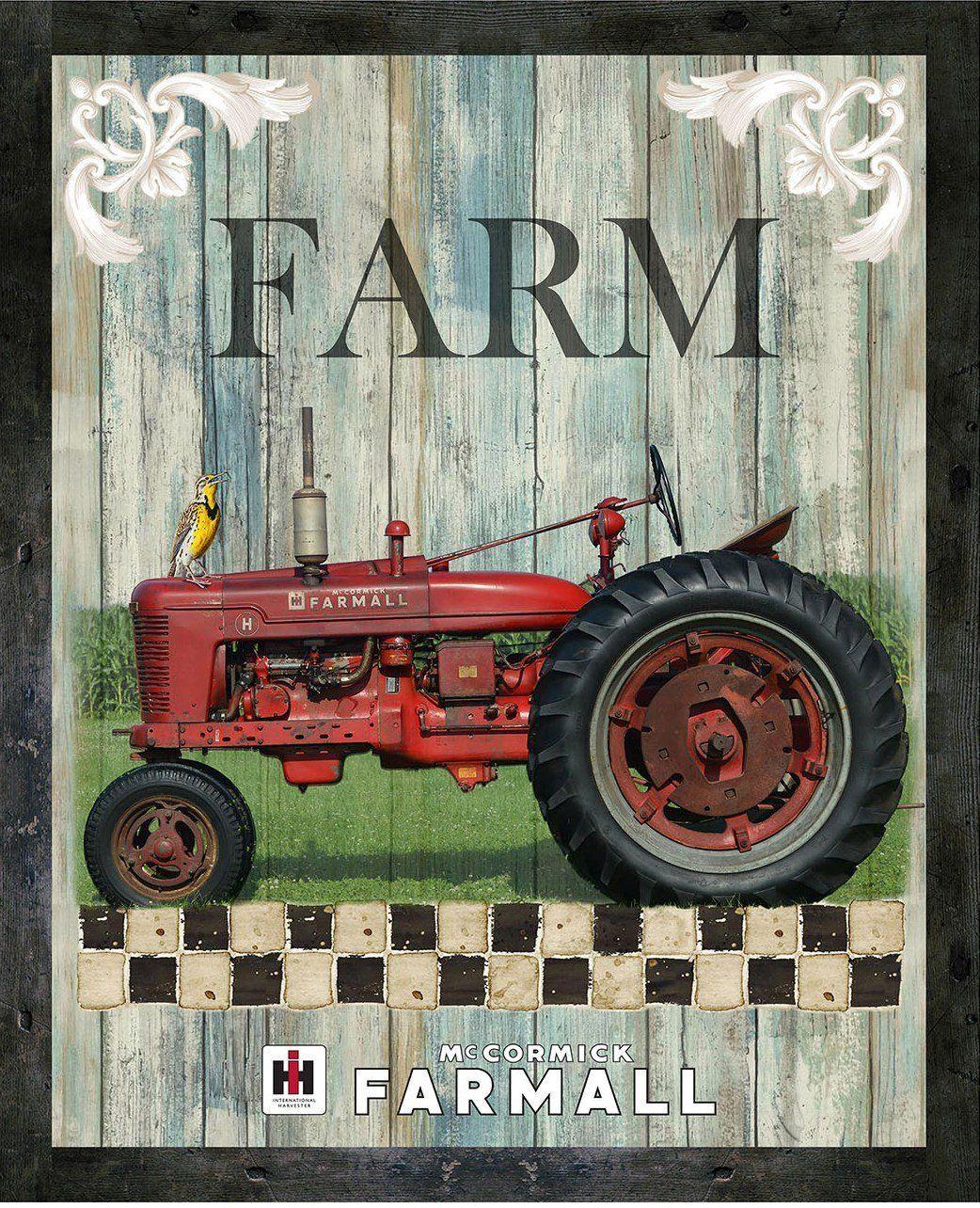 Farmall Tractors International Harvester Faith Farming BY YARDS Cotton Fabric