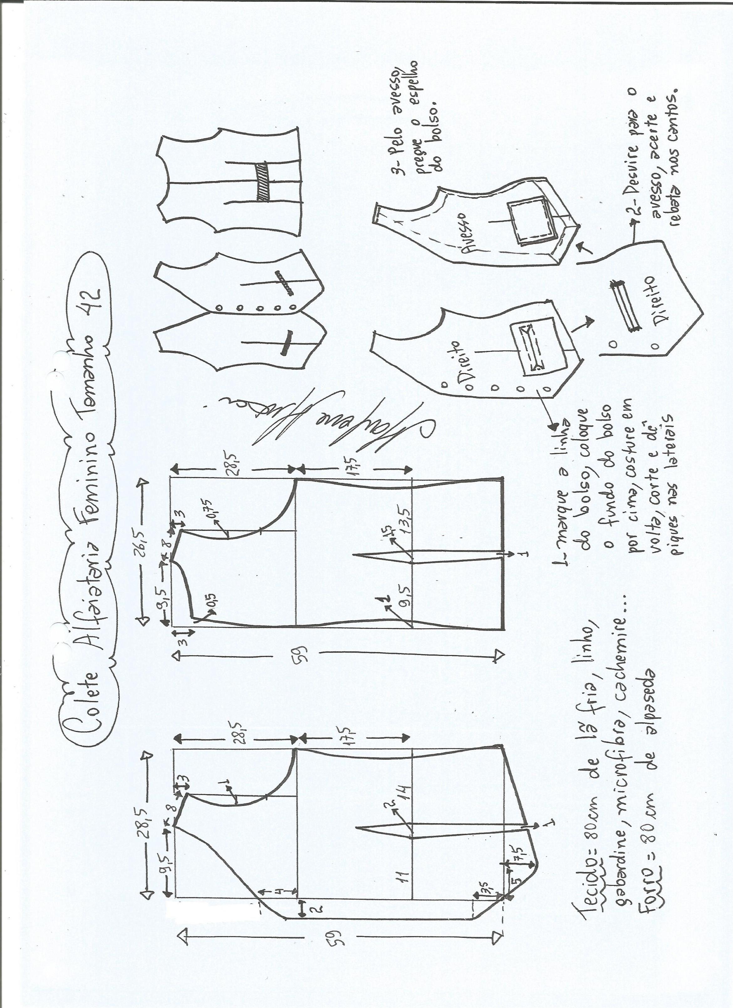 Colete feminino alfaiataria | moldes ropa | Pinterest