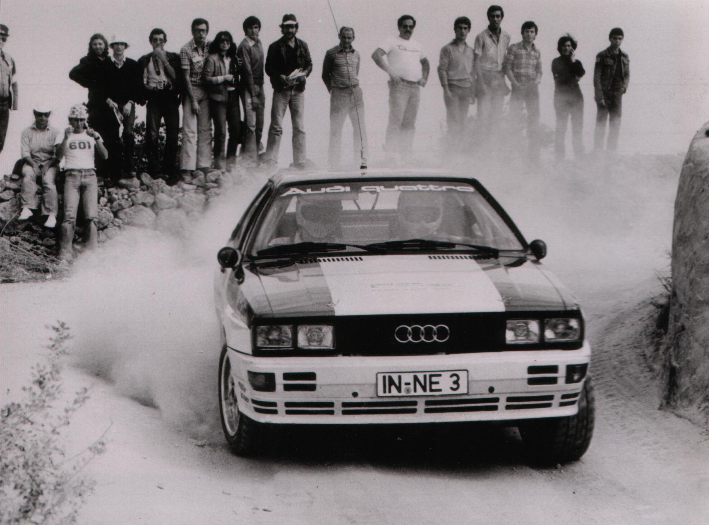 Audi Quattro, The first factory Quattro rally car, IN-3-NE. The ...